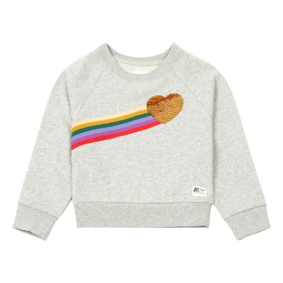 AO76 Rainbow Hearts Sequined Sweatshirt -listing