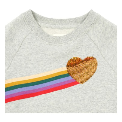 AO76 Sweat Rainbow Sequins Cœur-listing