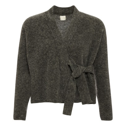 Des petits hauts Cleance Mohair and Merino Wool Wrap-over Cardigan-listing