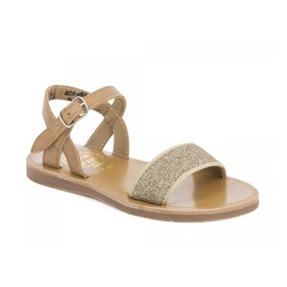 Pom d'Api Tao Buckled Glitter Leather Sandals-listing