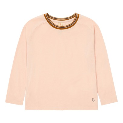 Bellerose Flane Ribbed Collar T-shirt-product