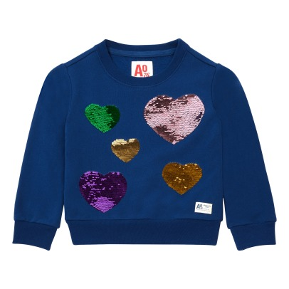 AO76 Hearts Sequined Sweatshirt -listing