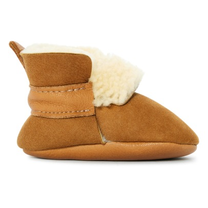 Amy & Ivor Fur Linen Leather Slippers-listing