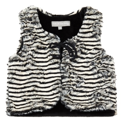 Milk on the Rocks Gilet Finto Pelo Pamina -listing