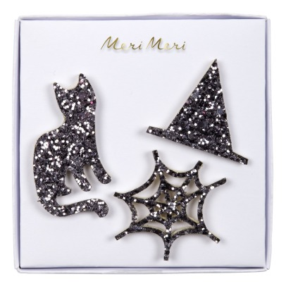 Meri Meri Halloween Brooches - Set of 3 -listing