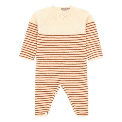 Emile et Ida Cachemire and Wool Striped Romper -listing