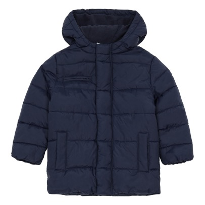 Petit Bateau Tercus Fleece Lined Quilted Down Jacket -listing