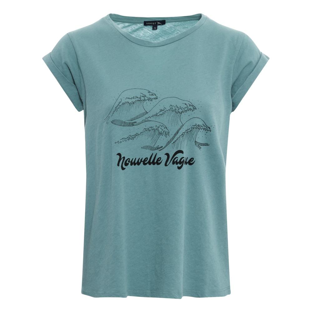 Casa Salle De Bain Rennes ~ T Shirt Nouvelle Vague Valentin Vert D Eau Soeur Mode Adulte