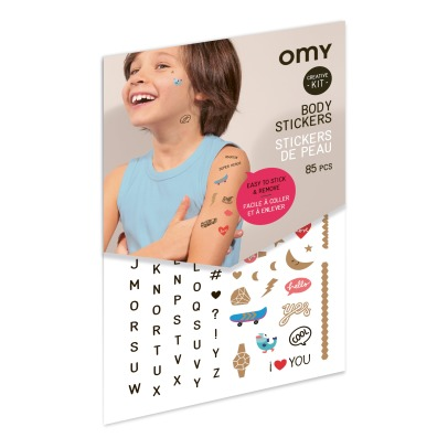 Omy Stickers de peau - 85 stickers Lettres-listing