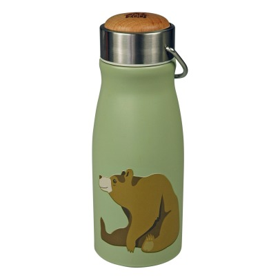 The Zoo Bear Water Bottle with Wooden Lid -listing