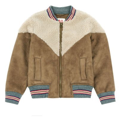AO76 Faux Fur Baseball Jacket -listing