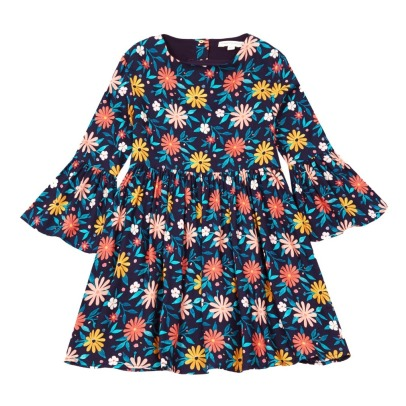Hundred Pieces Robe Flowers Seventies-listing
