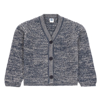 Le Petit Germain Leo Cotton and Merino Wool Cardigan -listing