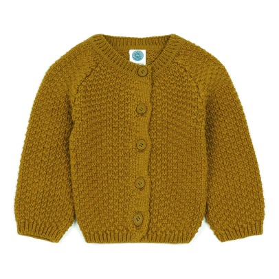 Le Petit Germain Armel Cotton and Merino Wool Cardigan -listing