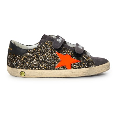 Golden Goose Deluxe Brand Old School Velcro Sequined Trainers -listing