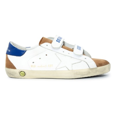 Golden Goose Deluxe Brand Old School Velcro Leather Trainers -listing