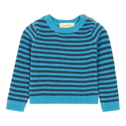 Lab - La Petite Collection Cotton and Merino Wool Striped Cardigan -listing