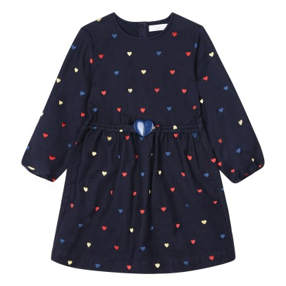 Stella McCartney Kids Robe Cœurs Brodés Skippy-listing