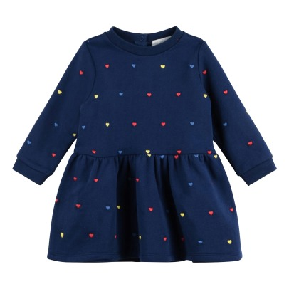 Stella McCartney Kids Robe Molleton Coton Bio Broderies Bretta-listing