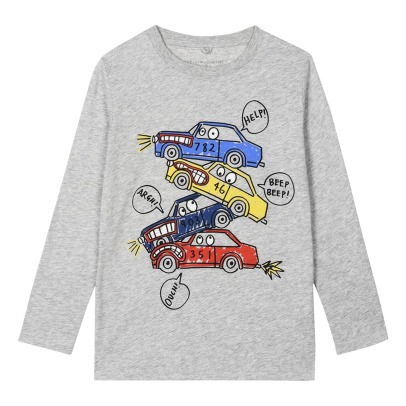Stella McCartney Kids T-Shirt Coton Bio Voitures Georgie-product