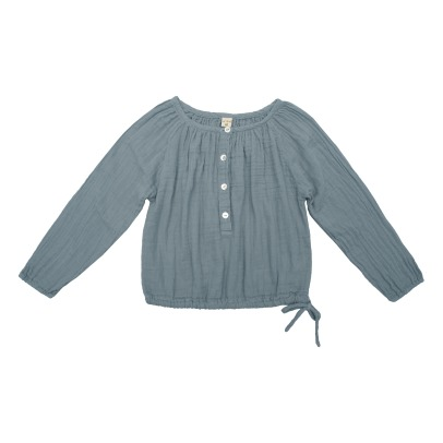 Numero 74 Naia Long Sleeve Blouse Grey blue-product